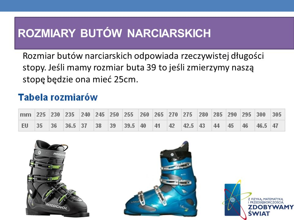 Rozmiary butów narciarskich