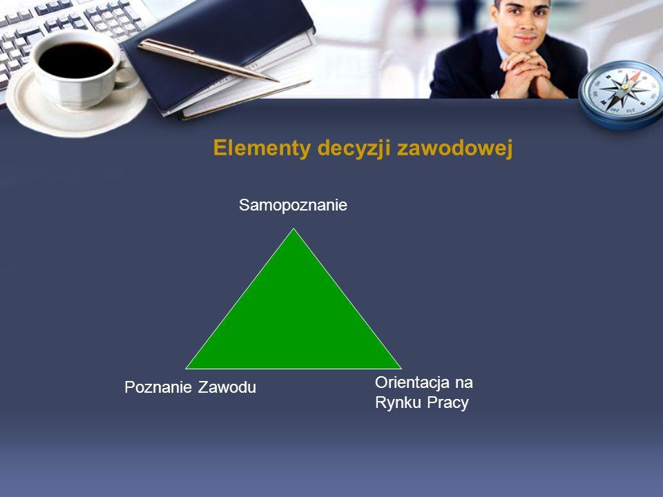 Elementy decyzji zawodowej