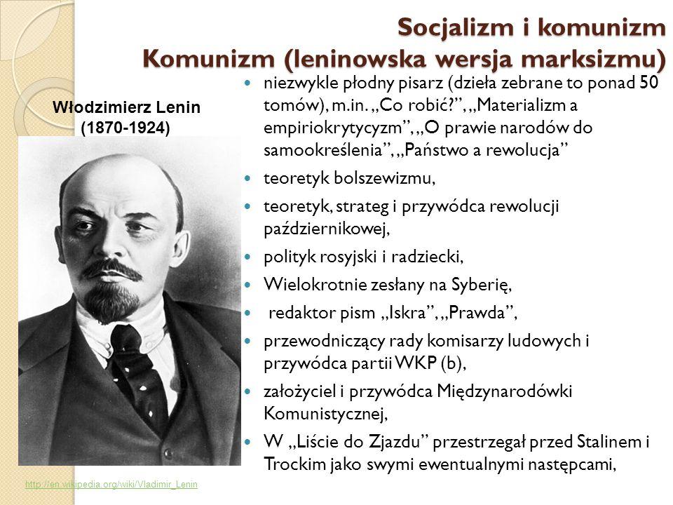 Komunizm (leninowska wersja marksizmu)