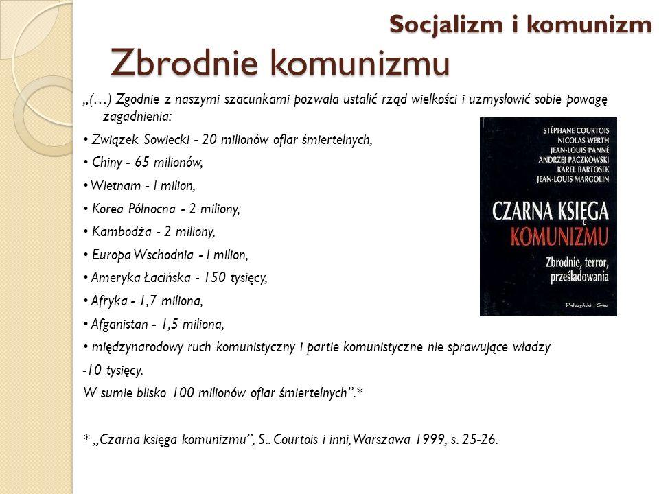 Zbrodnie komunizmu Socjalizm i komunizm