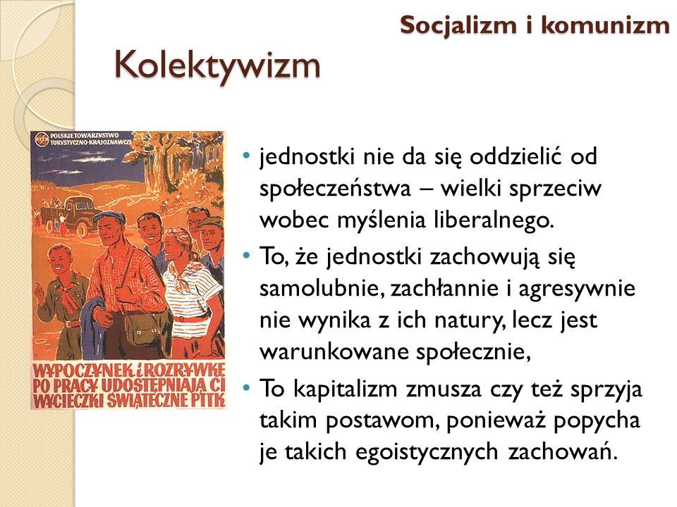 Kolektywizm Socjalizm i komunizm