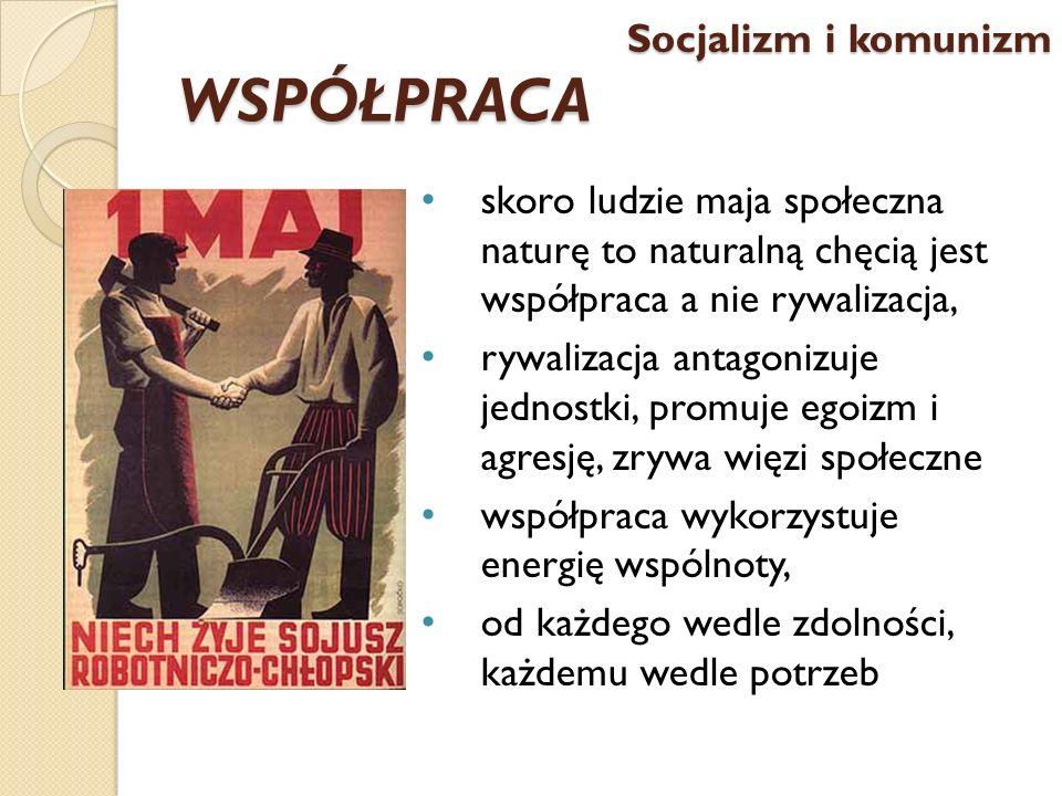 WSPÓŁPRACA Socjalizm i komunizm