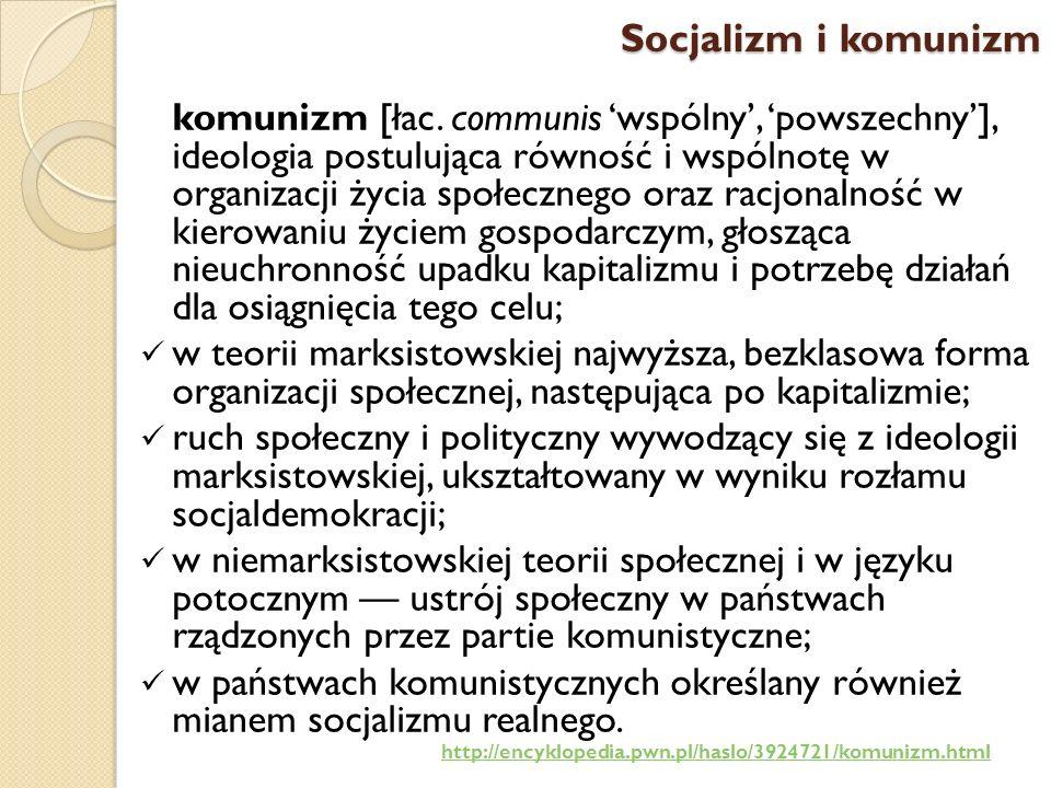 Socjalizm i komunizm