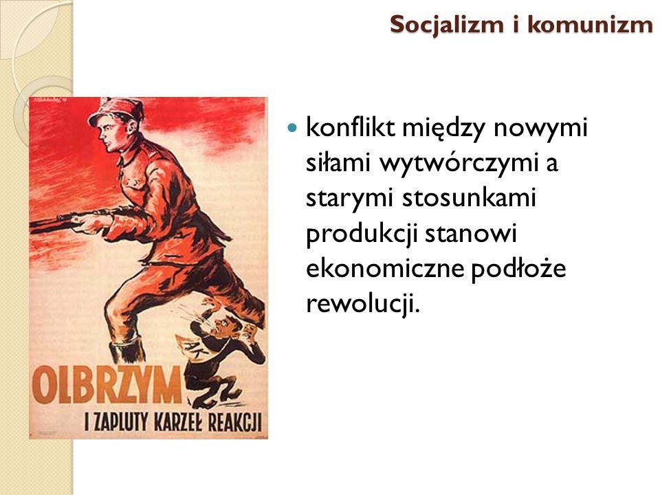 Socjalizm i komunizm konflikt między nowymi siłami wytwórczymi a starymi stosunkami produkcji stanowi ekonomiczne podłoże rewolucji.