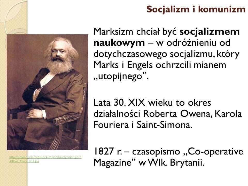 """1827 r. – czasopismo """"Co-operative Magazine w Wlk. Brytanii."""
