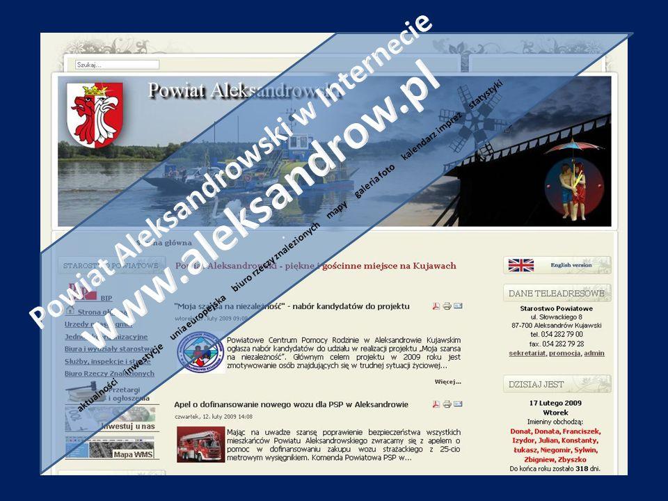 Powiat Aleksandrowski w Internecie www. aleksandrow. pl
