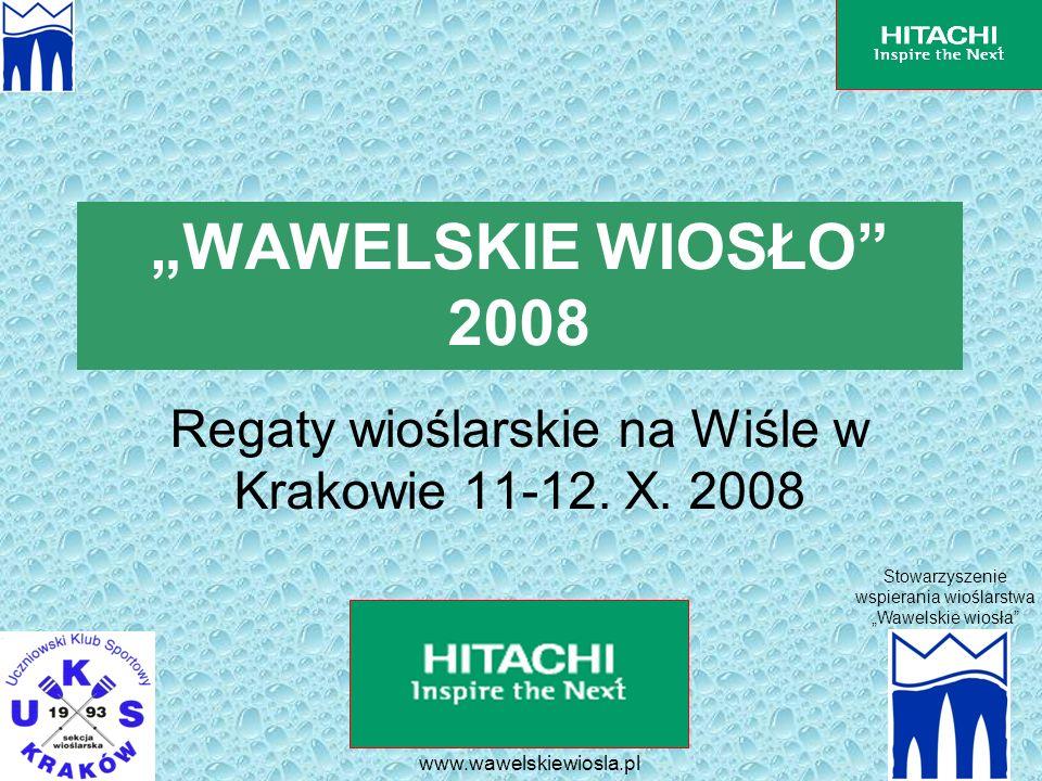 Regaty wioślarskie na Wiśle w Krakowie 11-12. X. 2008
