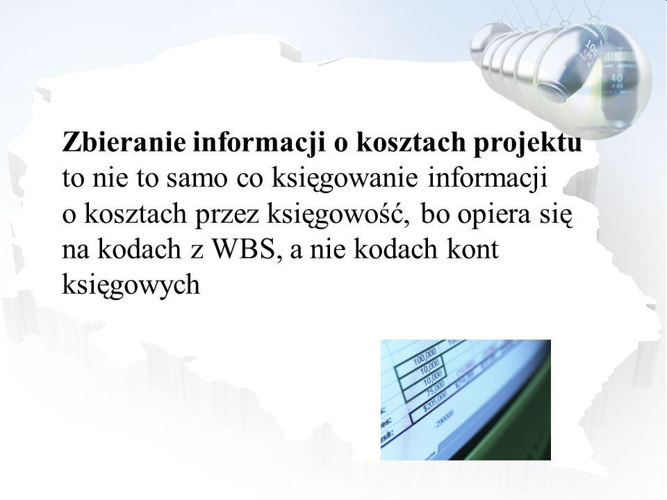 Zbieranie informacji o kosztach projektu