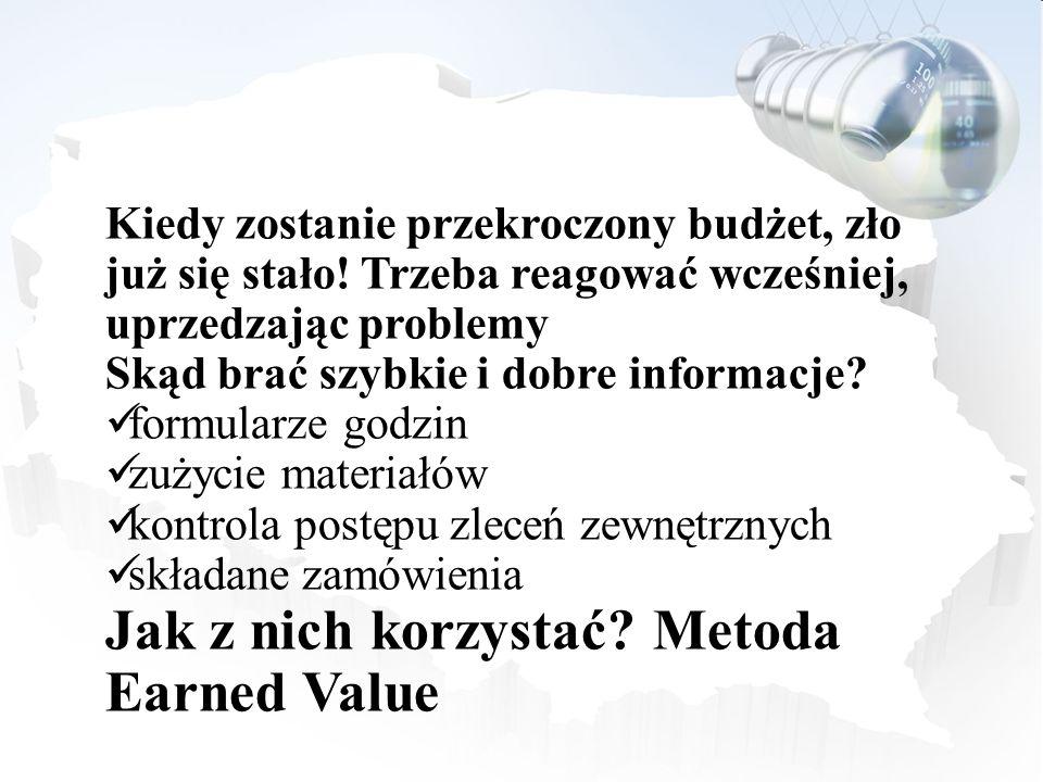 Jak z nich korzystać Metoda Earned Value