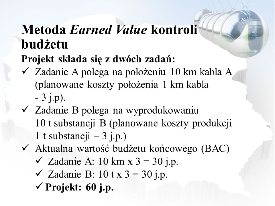 Metoda Earned Value kontroli budżetu