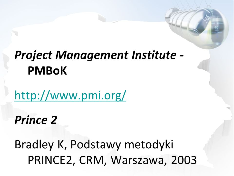Project Management Institute - PMBoK