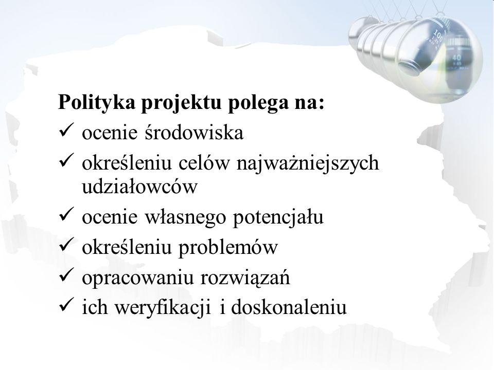Polityka projektu polega na: