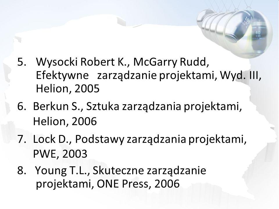 Wysocki Robert K., McGarry Rudd, Efektywne zarządzanie projektami, Wyd. III, Helion, 2005