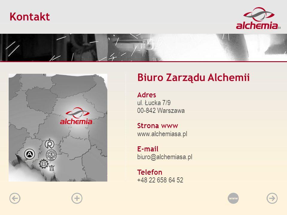 Kontakt Biuro Zarządu Alchemii Adres ul. Łucka 7/9 00-842 Warszawa
