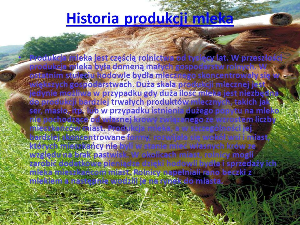 Historia produkcji mleka
