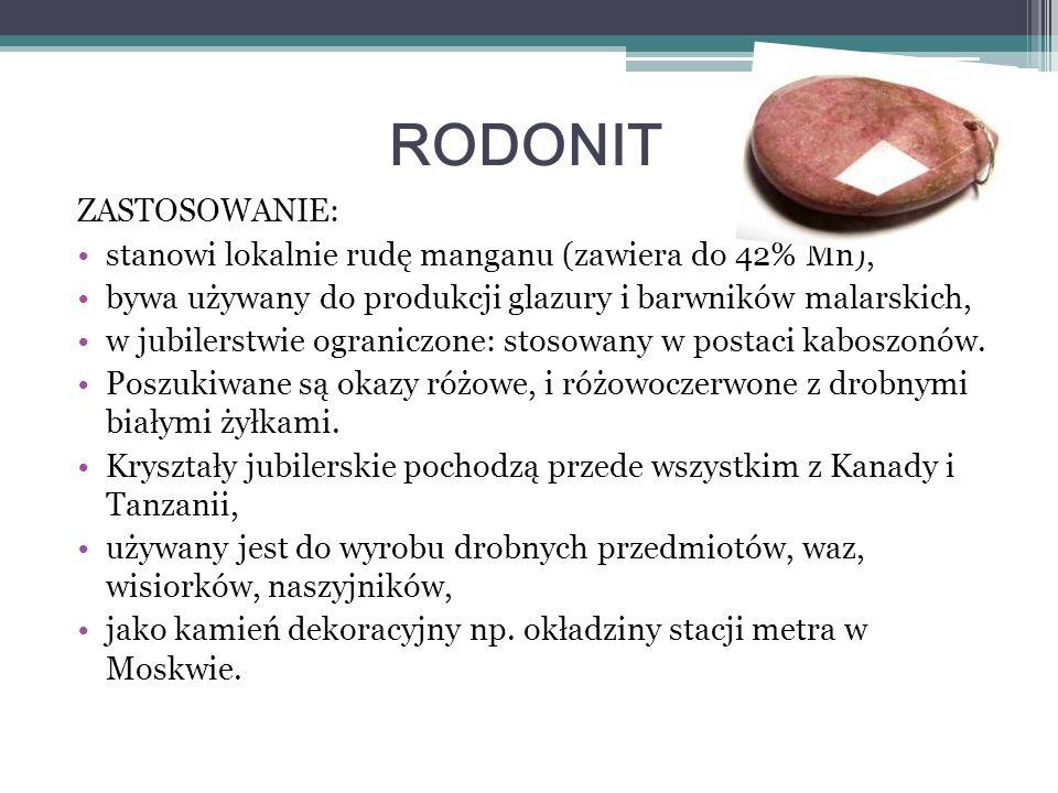 RODONIT ZASTOSOWANIE: