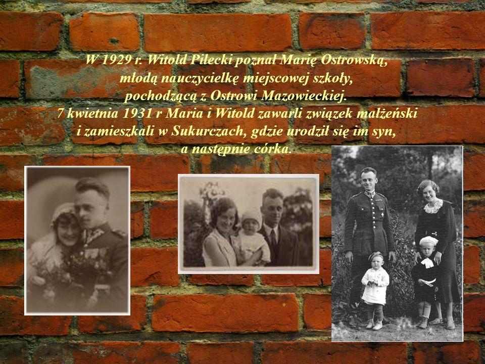 W 1929 r. Witold Pilecki poznał Marię Ostrowską,