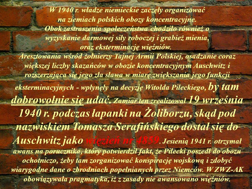 W 1940 r. władze niemieckie zaczęły organizować