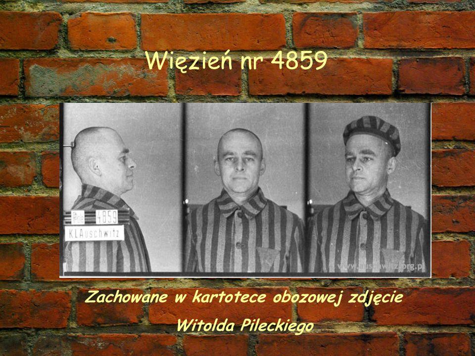 Zachowane w kartotece obozowej zdjęcie