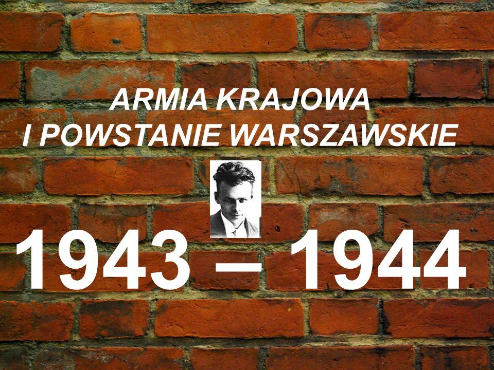 I POWSTANIE WARSZAWSKIE