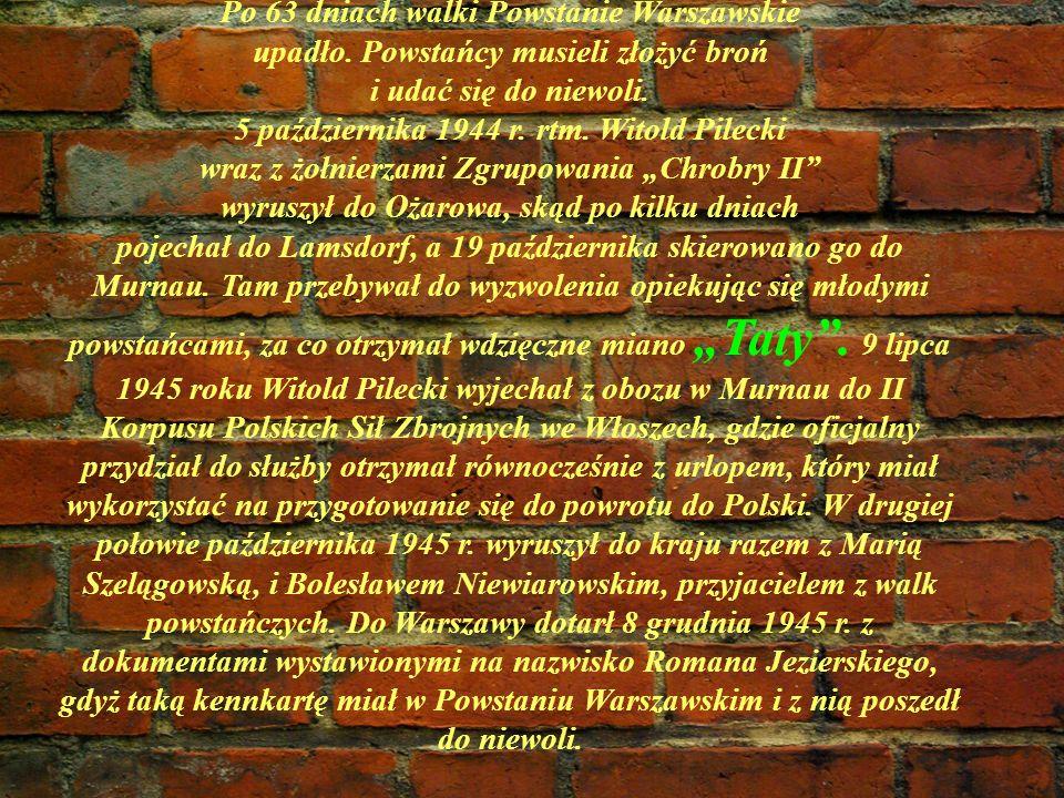 Po 63 dniach walki Powstanie Warszawskie