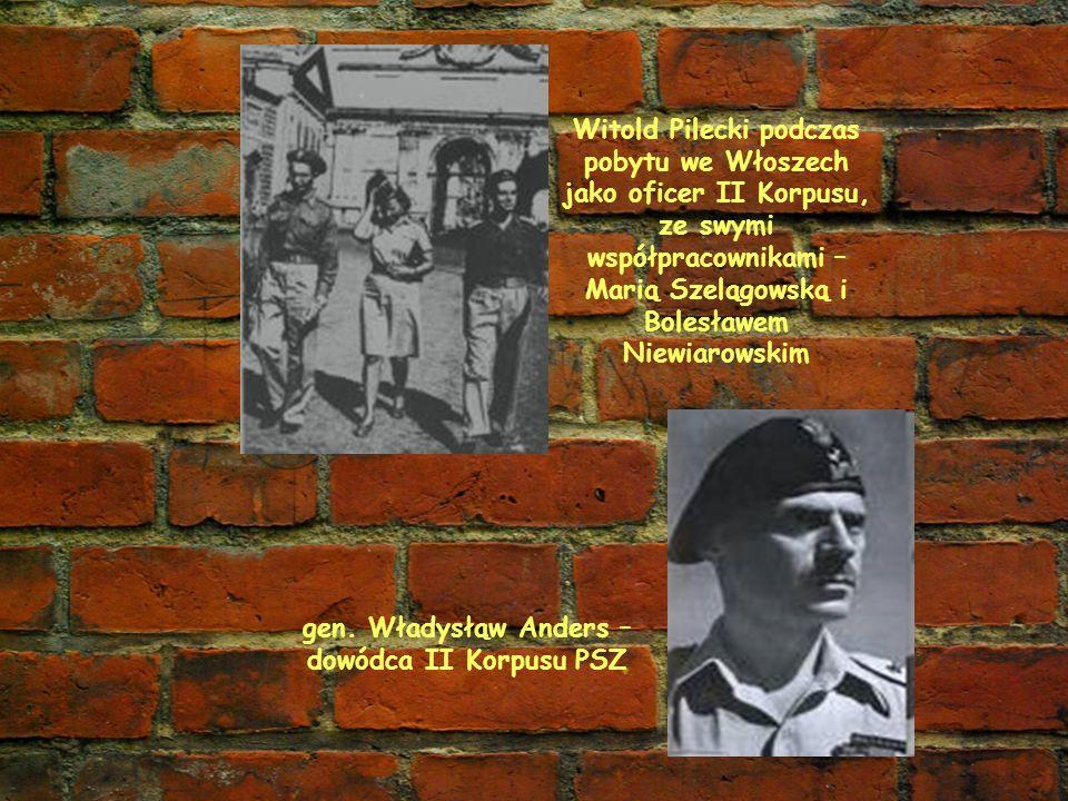 gen. Władysłąw Anders – dowódca II Korpusu PSZ
