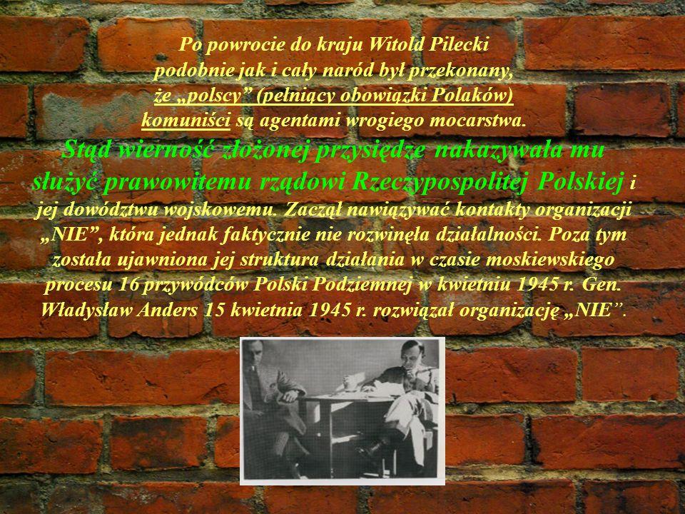 Po powrocie do kraju Witold Pilecki