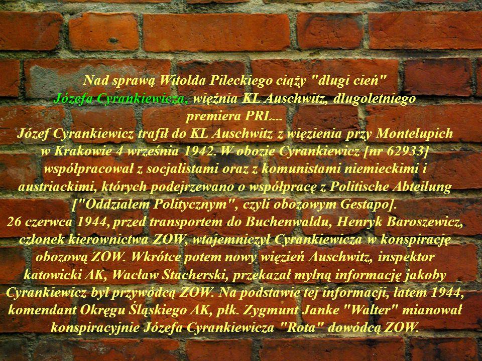 Nad sprawą Witolda Pileckiego ciąży długi cień