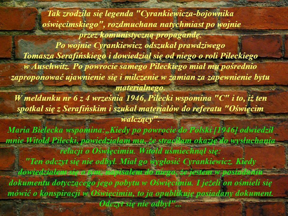 Tak zrodziła się legenda Cyrankiewicza-bojownika
