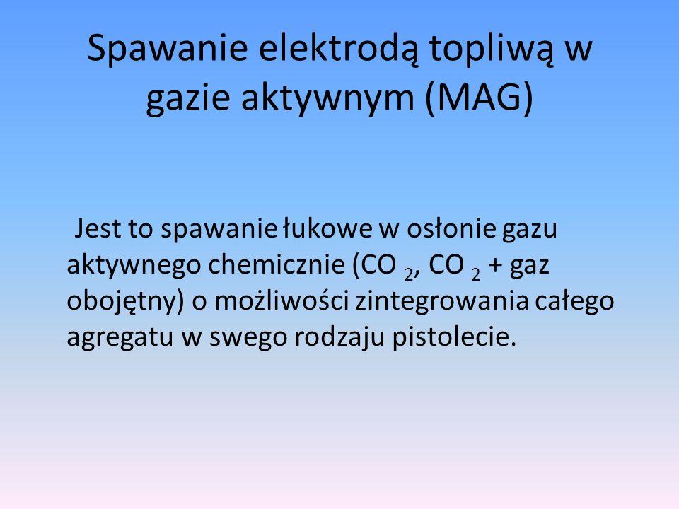 Spawanie elektrodą topliwą w gazie aktywnym (MAG)