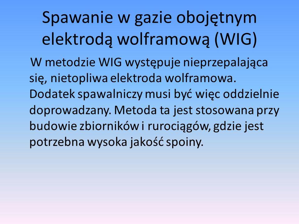 Spawanie w gazie obojętnym elektrodą wolframową (WIG)
