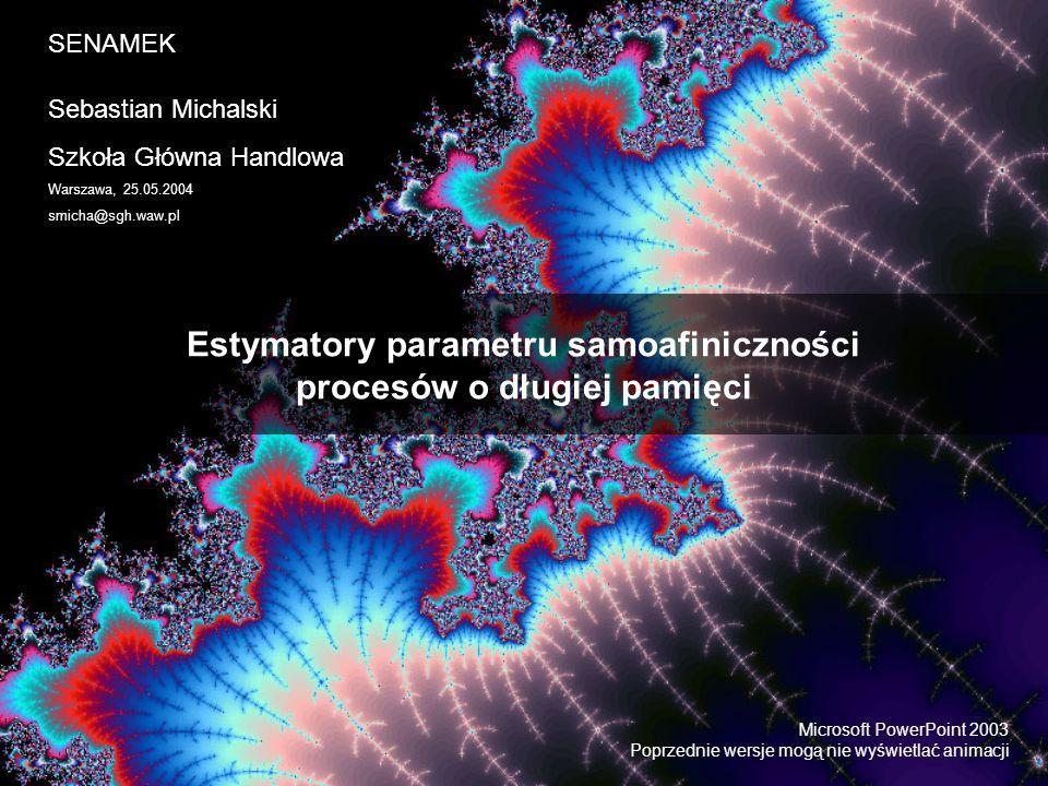 Estymatory parametru samoafiniczności procesów o długiej pamięci