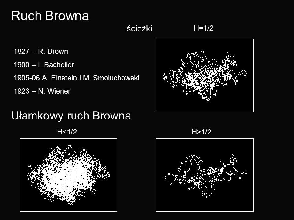 Ruch Browna Ułamkowy ruch Browna ścieżki H=1/2 1827 – R. Brown
