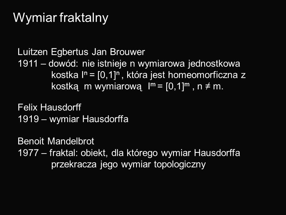 Wymiar fraktalny Luitzen Egbertus Jan Brouwer