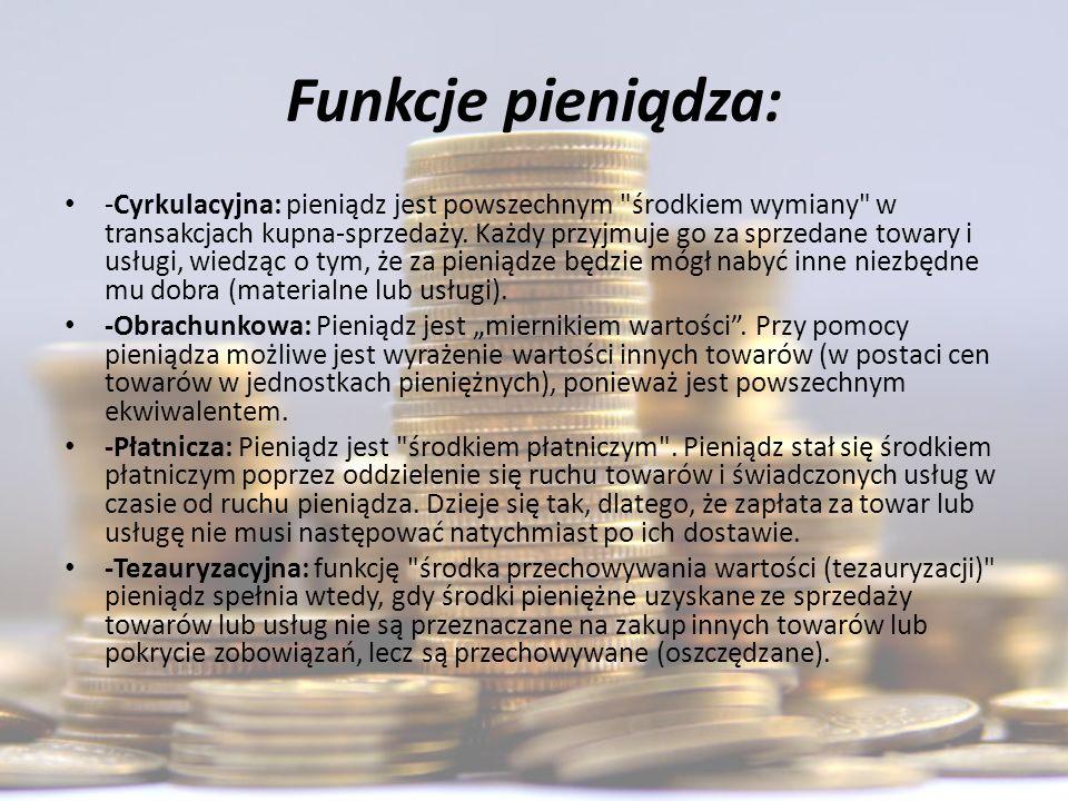 Funkcje pieniądza: