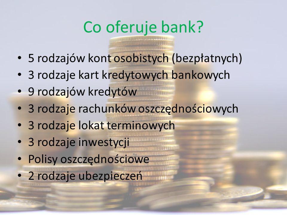 Co oferuje bank 5 rodzajów kont osobistych (bezpłatnych)