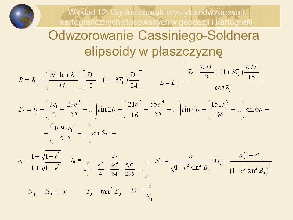 Odwzorowanie Cassiniego-Soldnera elipsoidy w płaszczyznę
