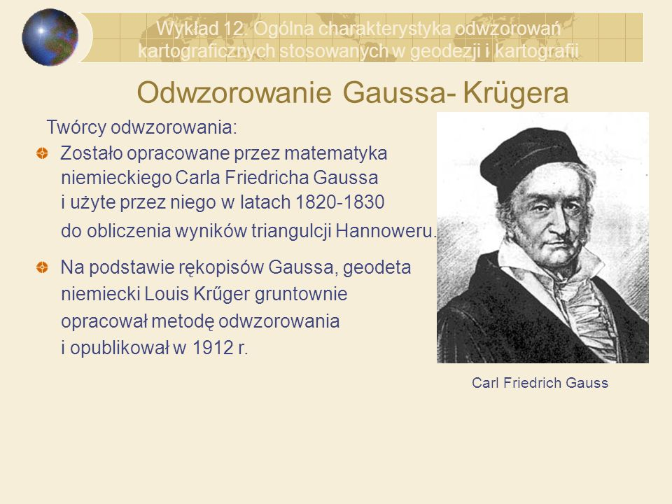 Odwzorowanie Gaussa- Krügera