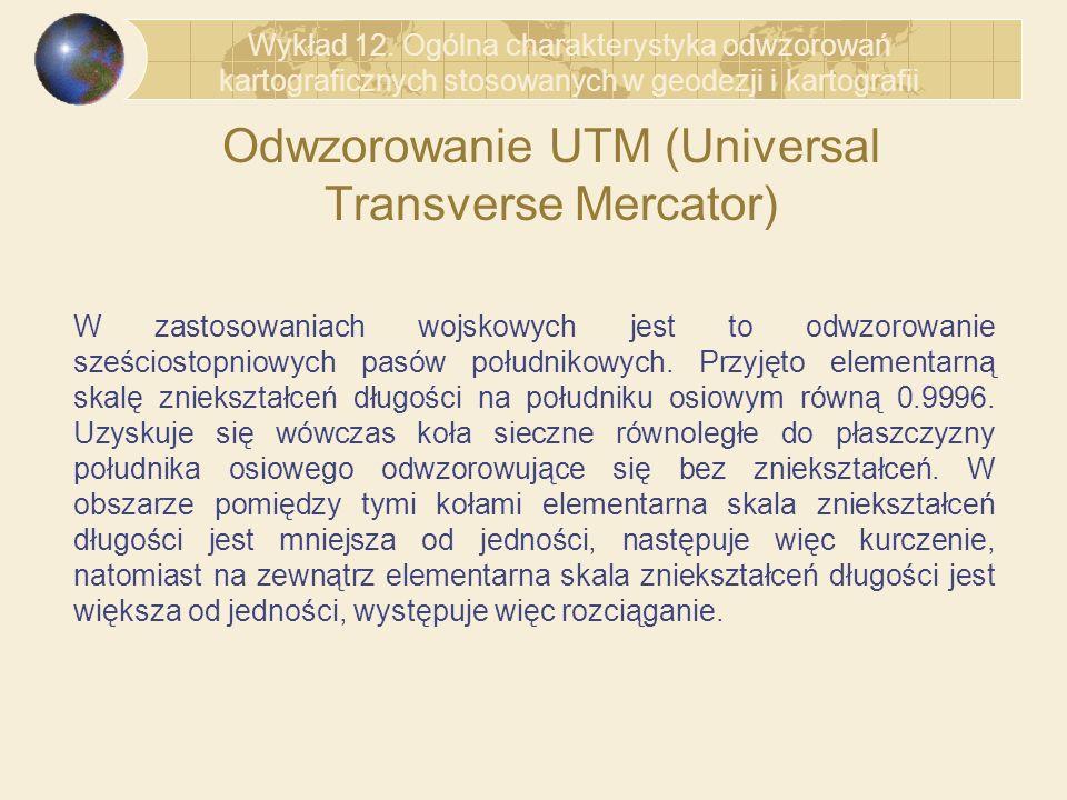 Odwzorowanie UTM (Universal Transverse Mercator)