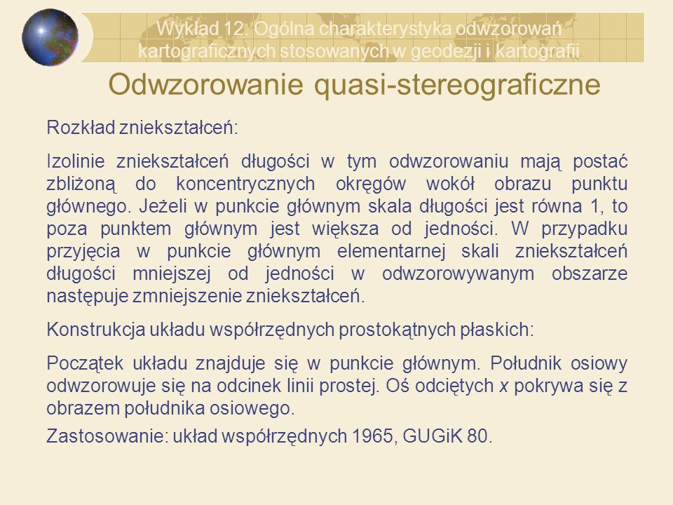 Odwzorowanie quasi-stereograficzne