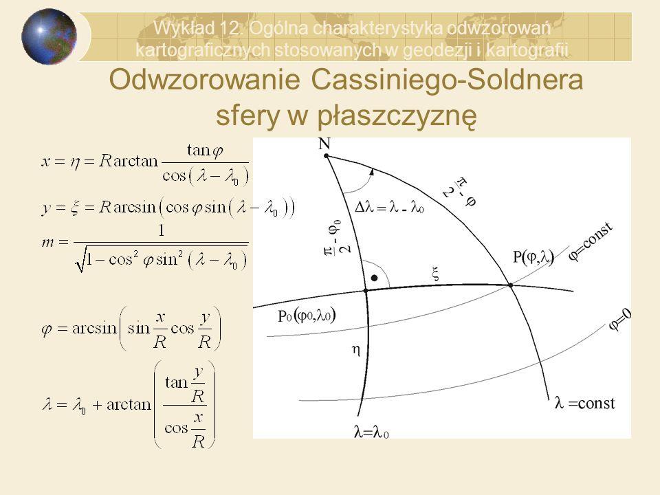 Odwzorowanie Cassiniego-Soldnera sfery w płaszczyznę
