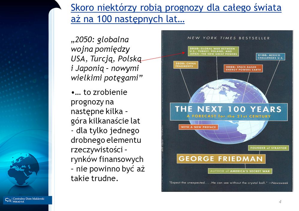 Skoro niektórzy robią prognozy dla całego świata aż na 100 następnych lat…