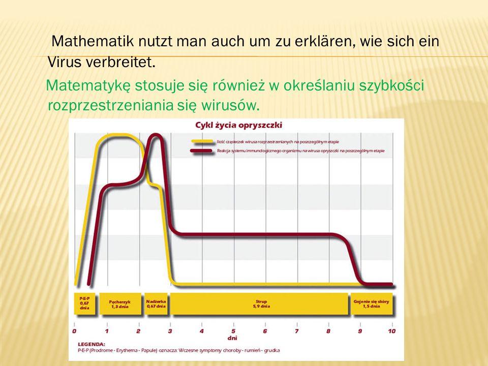 Mathematik nutzt man auch um zu erklären, wie sich ein Virus verbreitet.