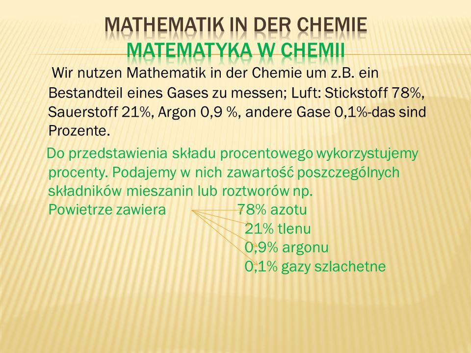 Mathematik in der Chemie Matematyka w chemii