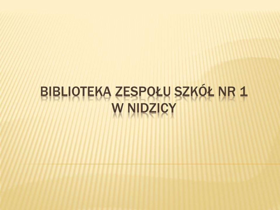Biblioteka Zespołu Szkół nr 1 w Nidzicy