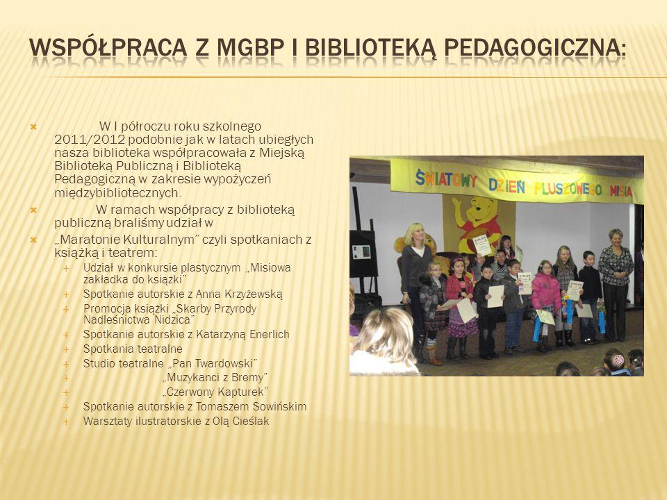 Współpraca z MGBP i Biblioteką Pedagogiczna: