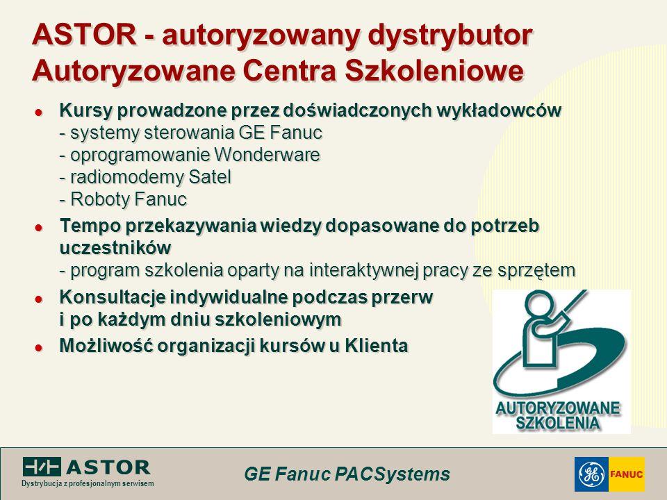 ASTOR - autoryzowany dystrybutor Autoryzowane Centra Szkoleniowe