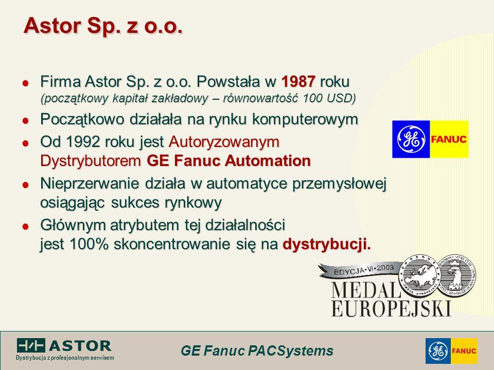 Astor Sp. z o.o.Firma Astor Sp. z o.o. Powstała w 1987 roku (początkowy kapitał zakładowy – równowartość 100 USD)