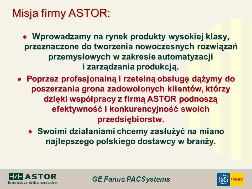 Misja firmy ASTOR: