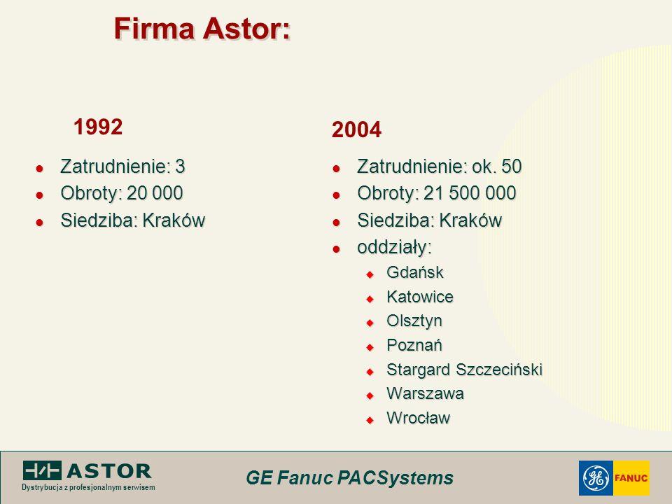 Firma Astor: 1992 2004 Zatrudnienie: 3 Obroty: 20 000 Siedziba: Kraków